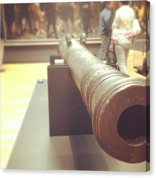 Rijksmuseum Canvas Print - #rijksmuseum Cannon Of Admiralty Of by Valentin Vesa