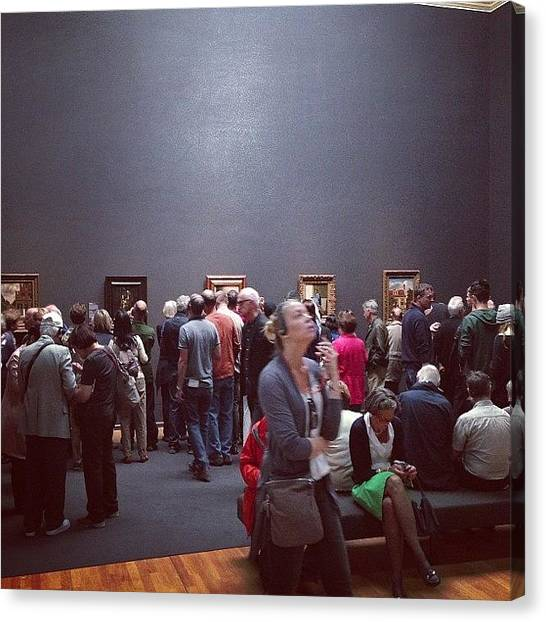 Rijksmuseum Canvas Print - #rijksmuseum Crowd Hungry For #art by Valentin Vesa