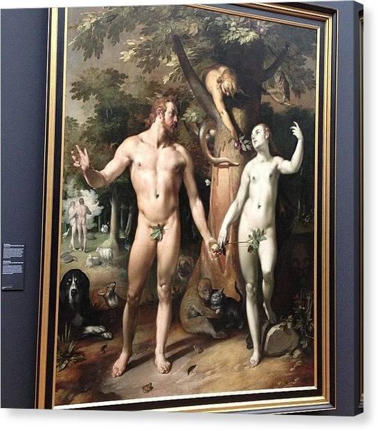 Rijksmuseum Canvas Print - #rijksmuseum Fall Of Man (1592), By by Valentin Vesa