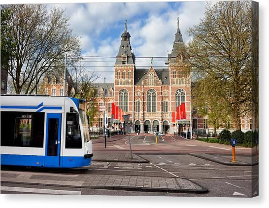Rijksmuseum Canvas Print - Rijksmuseum In The City Of Amsterdam by Artur Bogacki