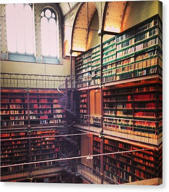 Rijksmuseum Canvas Print - #rijksmuseum #library #books #bookporn by Ksenia Repina