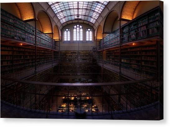 Holland Canvas Print - Rijksmuseum Library by Jes??s M. Garc??a