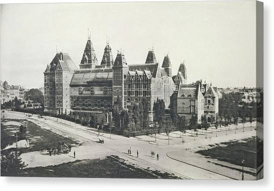 Rijksmuseum Canvas Print - Rijksmuseum, Seen From The Rear Of A Building In The Pc by Artokoloro