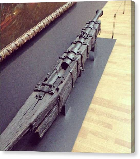 Rijksmuseum Canvas Print - #rijksmuseum Ship's Cannon 1550-1573 by Valentin Vesa