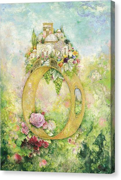 Judaism Canvas Print - Ring And Rose by Michoel Muchnik