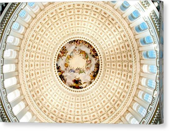 Ring Around The Capitol Canvas Print