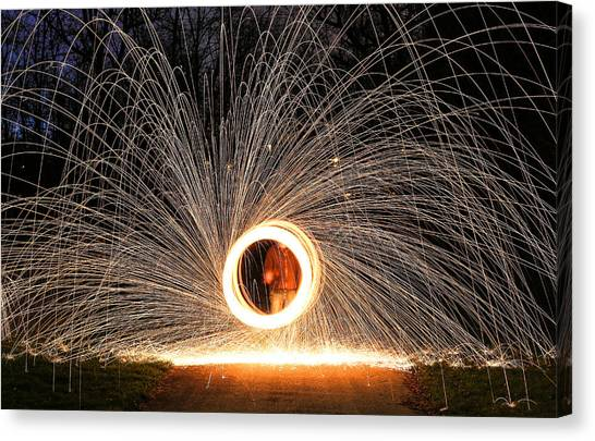 Ring Of Fire Canvas Print by Anna-Lee Cappaert