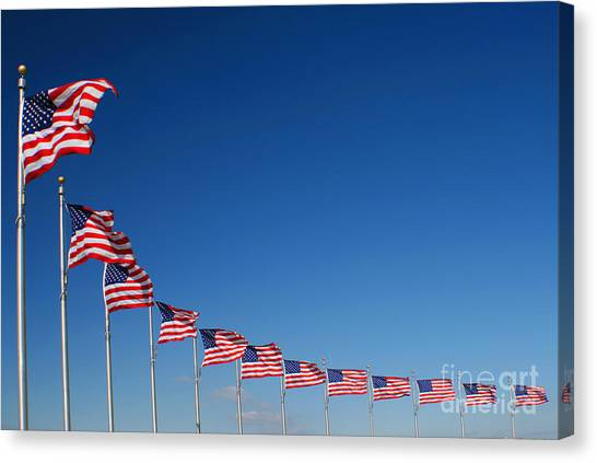 Ring Of Flags Canvas Print