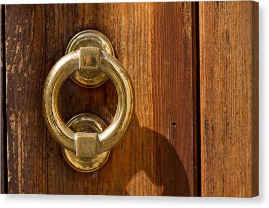 Ring On The Door Canvas Print