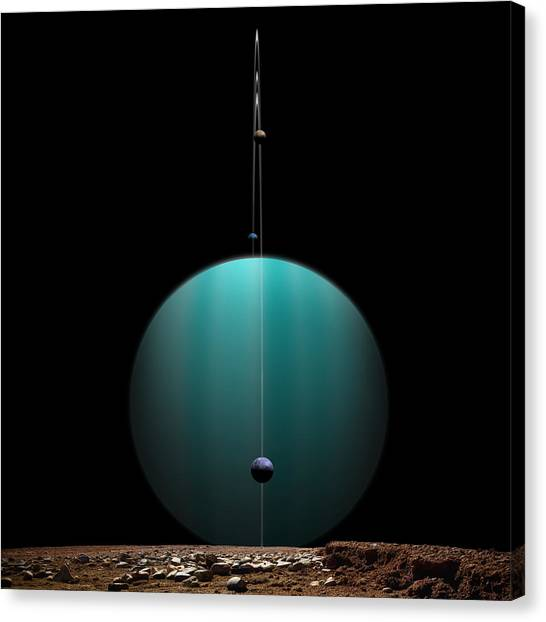 Ringed World No.4 Canvas Print