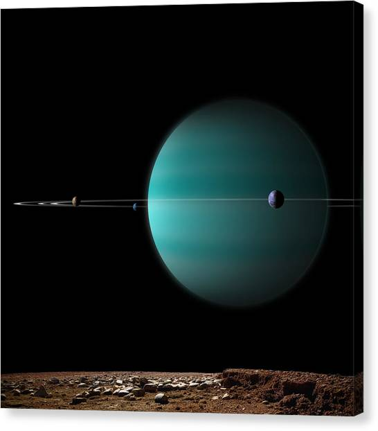 Ringed World No.5 Canvas Print