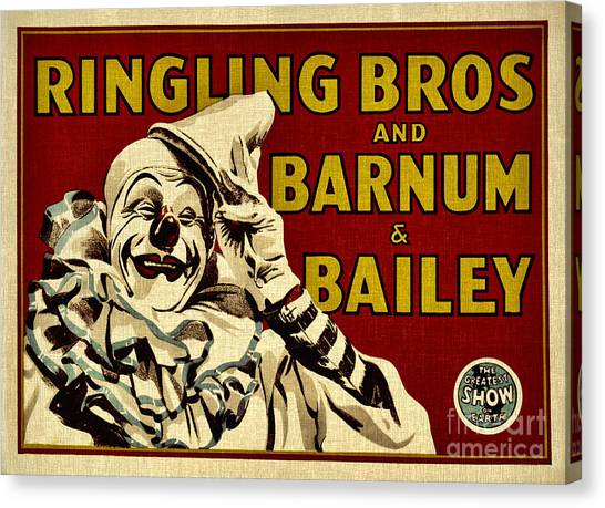 Ringling Bros   Barnum And Bailey Circus Canvas Print