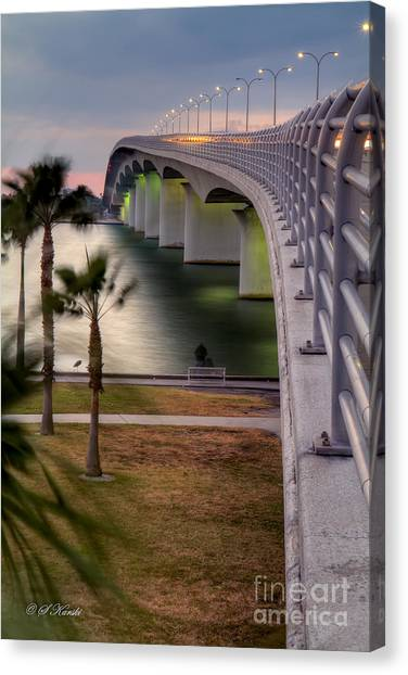 Ringling Causeway Bridge Overlook Canvas Print