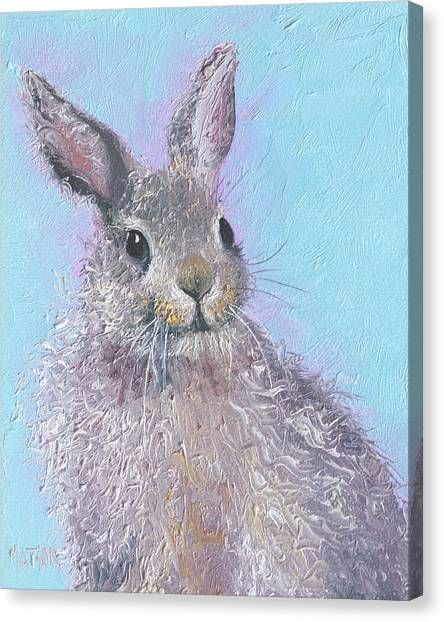 Easter Bunny Canvas Print - Easter Bunny Painting - Ringo  by Jan Matson
