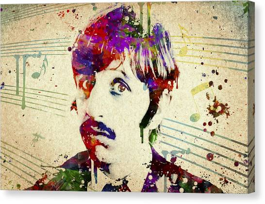 George Harrison Canvas Print - Ringo Starr by Aged Pixel