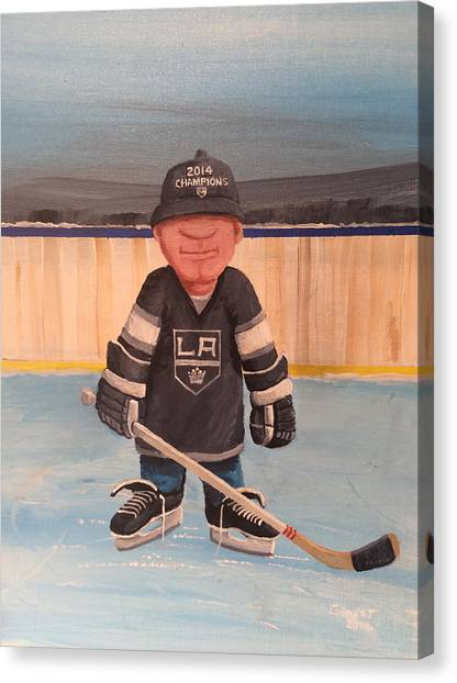 Los Angeles Kings Canvas Print - Rinkrattz - La Kings by Ron  Genest