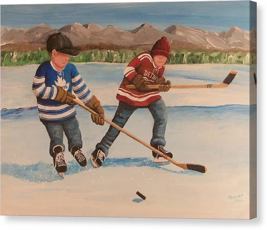 Toronto Maple Leafs Canvas Print - Rinkrattz - Winter Classic 2014 by Ron  Genest