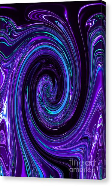 Rinse Cycle Blue And Purple Canvas Print by George Zhouf