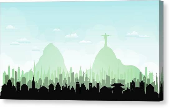 Rio De Janeiro Each Building Is Canvas Print by Leontura