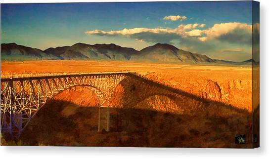 Rio Grande Gorge Bridge Heading To Taos Canvas Print