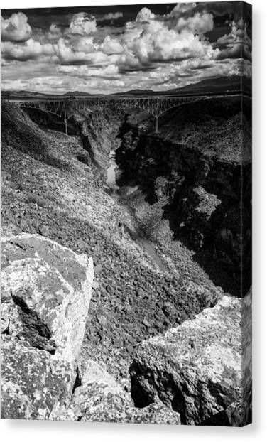 Prado Canvas Print - Rio Grande Gorge - Taos New Mexico by Silvio Ligutti