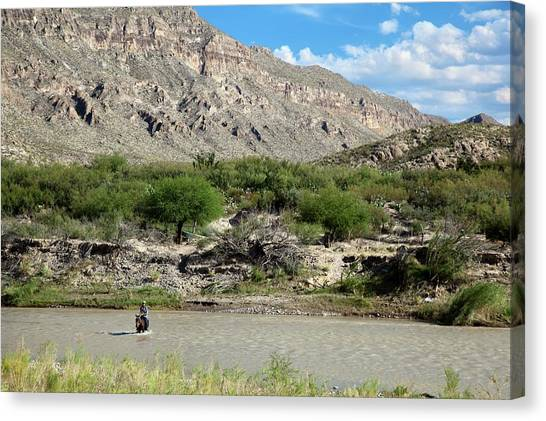 Illegal Aliens Canvas Print - Rio Grande by Jim West