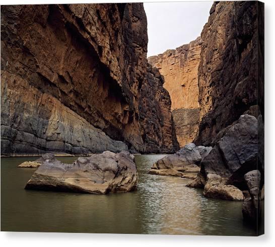 Rio Grande River Canvas Print - Rio Grande Winding Through Santa Elena by Panoramic Images