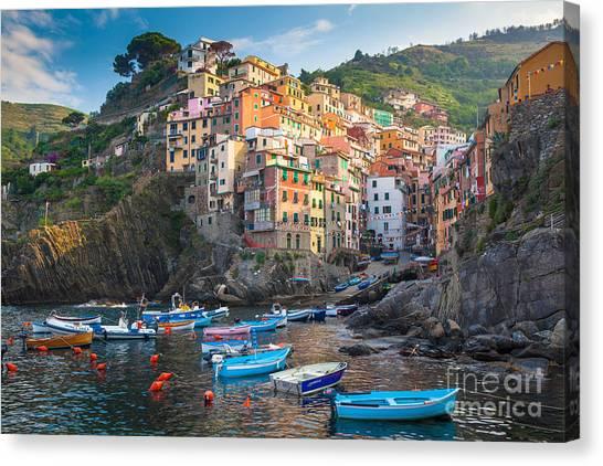 Riomaggiore Boats Canvas Print