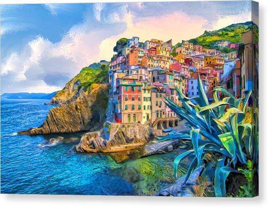 Riomaggiore Morning - Cinque Terre Canvas Print