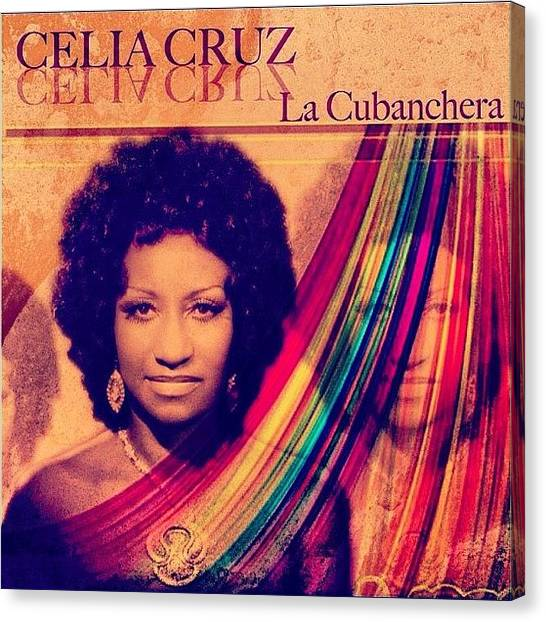 Salsa Canvas Print - R.i.p. Celia Cruz!! 1925-2003 10 by David S Chang