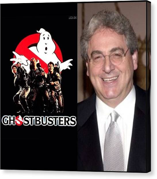 Ghostbusters Canvas Print - R.i.p.  #haroldramis #ghostbusters by Jim Neeley