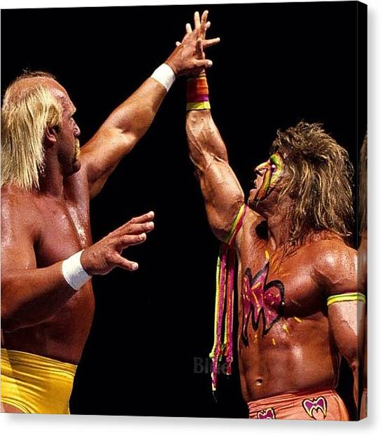 Wwe Canvas Print - Rip To The Ultimate Warrior!! When I by Slightly Stoopid