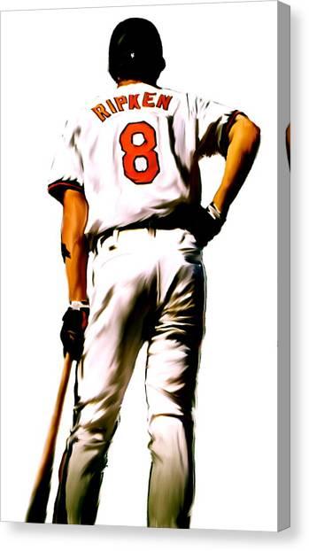 Lou Gehrig Canvas Print - Ripken II   Cal Ripken Jr by Iconic Images Art Gallery David Pucciarelli