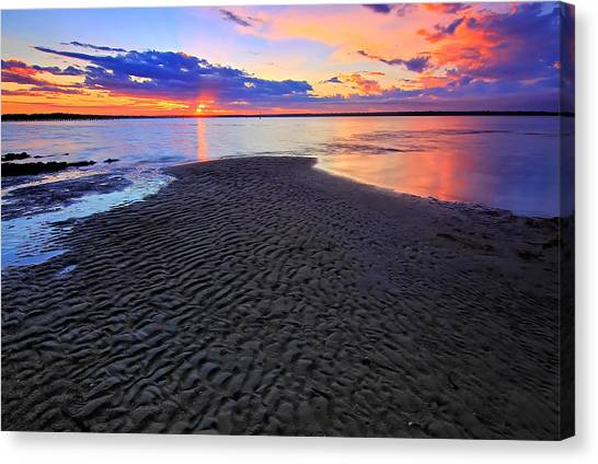 Rippled Sunset Canvas Print