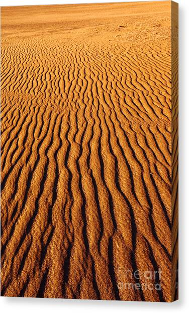 Atacama Desert Canvas Print - Ripple Patterns In The Sand 3 by James Brunker
