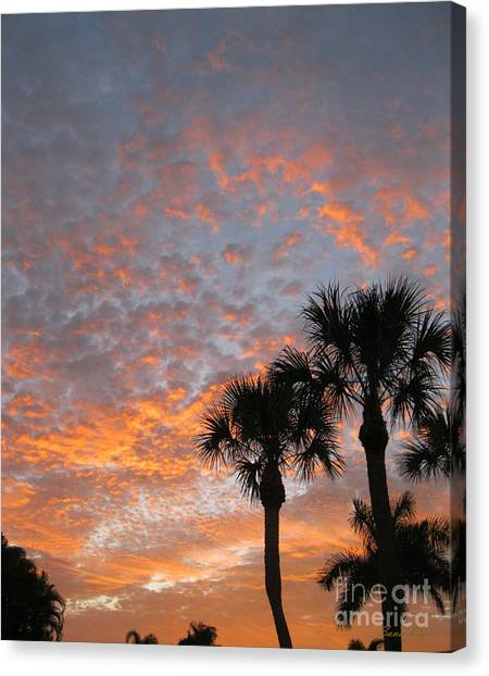 Rise And Shine. Florida. Morning Sky View Canvas Print