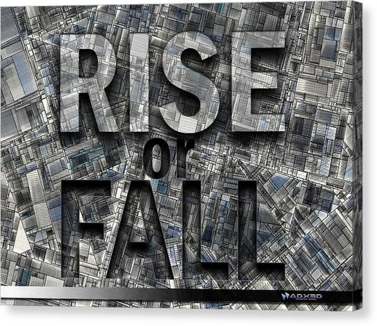 Rise Or Fall Canvas Print