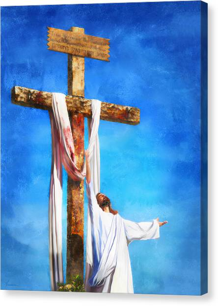 Risen Canvas Print