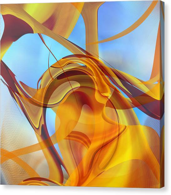 Rising Into Sky Blue Abstract Canvas Print