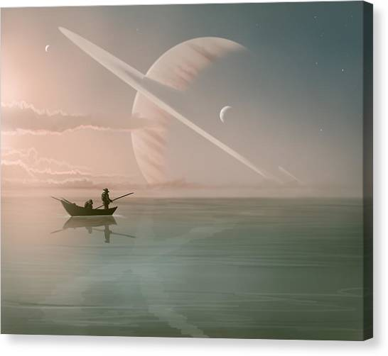 Saturn Canvas Print - Rising by Mark Zelmer