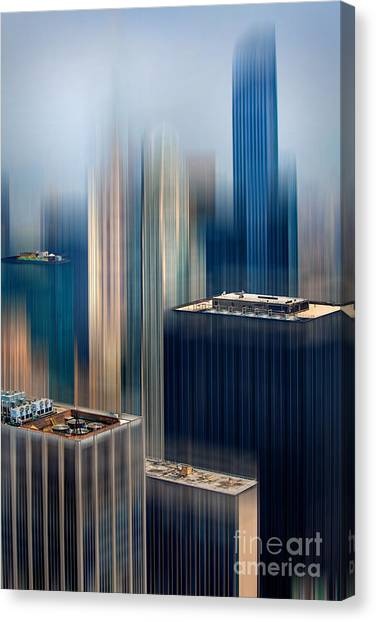 Abstract Skyline Canvas Print - Rising Metropolis by Az Jackson