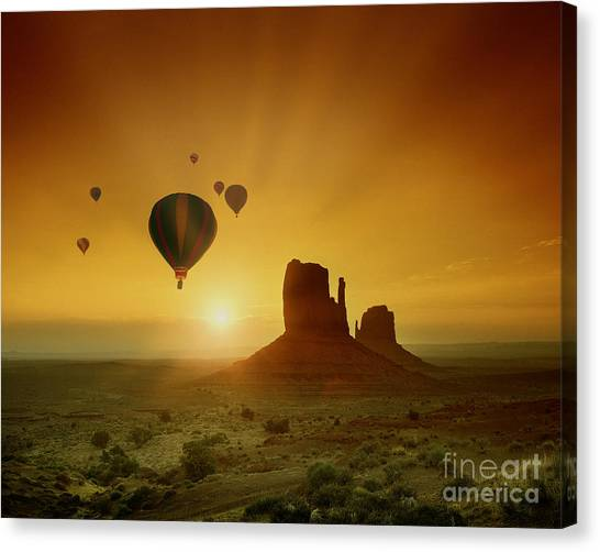 Rising To The Sun Canvas Print