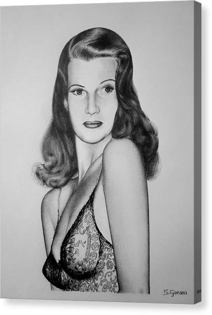 Rita Hayworth Canvas Print