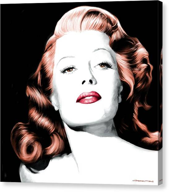 Rita Hayworth Large Size Portrait Canvas Print