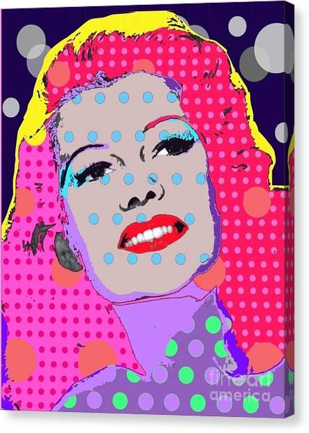 Rita Hayworth Canvas Print by Ricky Sencion