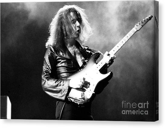 Chris Walter Canvas Print - Riitchie Blackmore 1973 Deep Purple by Chris Walter