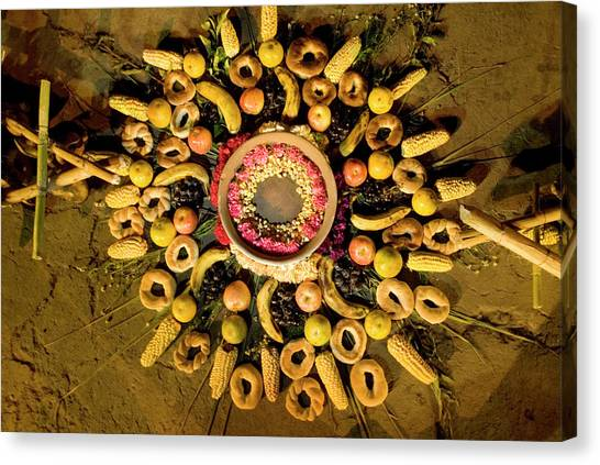 Cotopaxi Canvas Print - Ritual For Mother Earth In The Fiestas by Ivan Kashinsky
