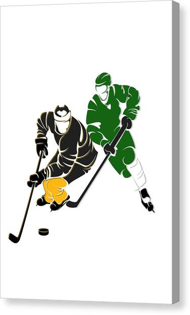 Boston Bruins Canvas Print - Rivalries Bruins And Whalers by Joe Hamilton