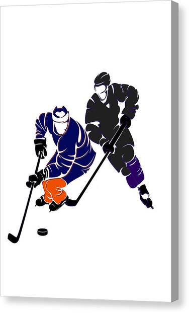 Edmonton Oilers Canvas Print - Rivalries Oilers And Kings by Joe Hamilton