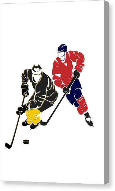 Pittsburgh Penguins Canvas Print - Rivalries Penguins And Capitals by Joe Hamilton